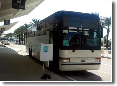 Orlando, Florida charter bus for hire.